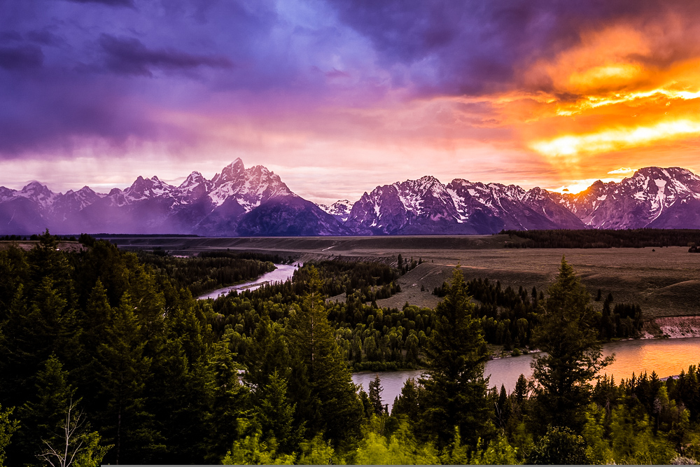 A view of Grand Teton from where most people begin floating the Snake River