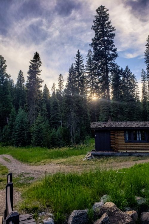 A cabin at Lone Mountain Ranch, one of the best activities in Big Sky Montana