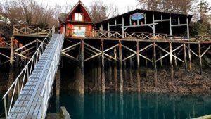 Boat dock at The Saltry Restaurant in Homer Alaska