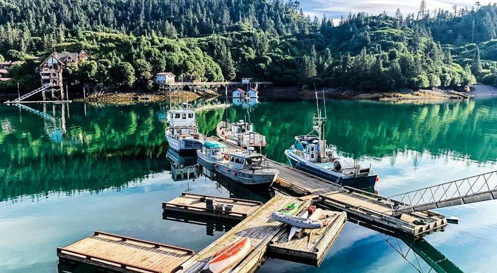 Boat dock at The Saltry Restaurant Alaska