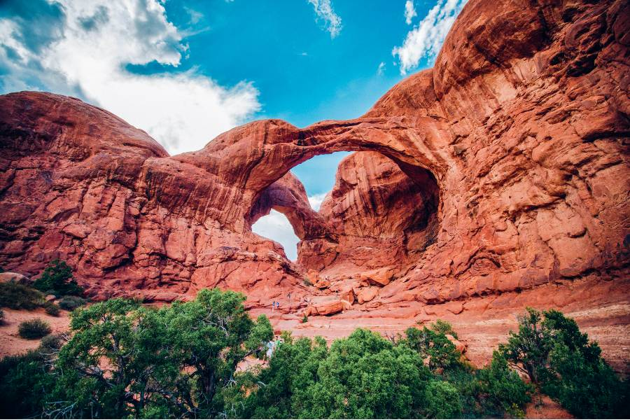 Double Arch, one of the best hikes in Moab