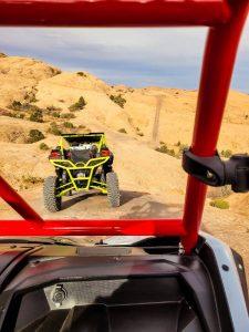 UTVs off roading in Utah on Hells Revenge