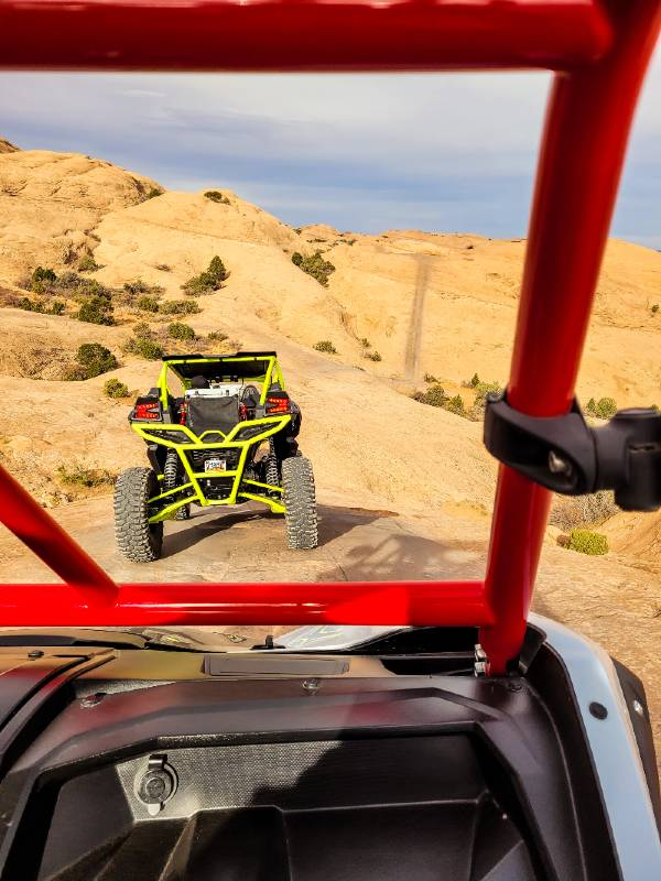 UTVs off roading in Utah on Hells Revenge