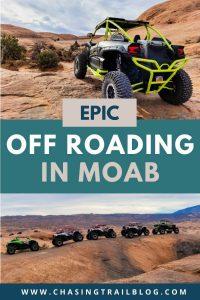 Multiple UTVs off roading in Moab Utah
