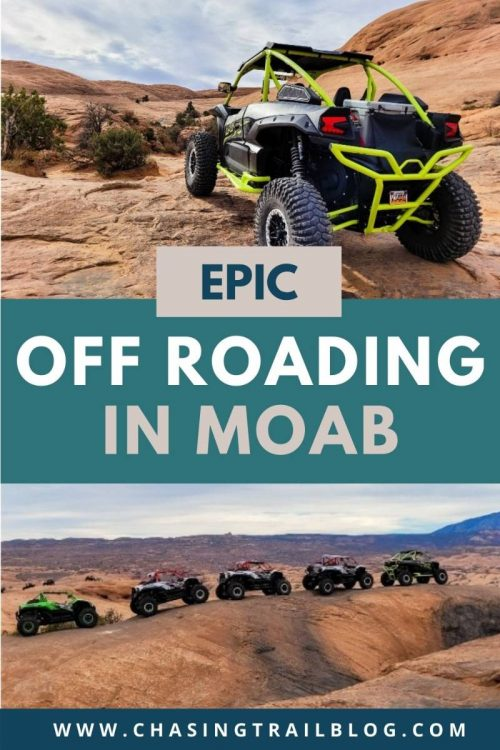 Multiple UTVs off roading in Moab Utah