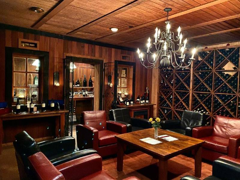 The library at Monticello Vineyards, one of the most romantic places in Napa Valley
