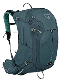 The Osprey Mira 22 backpack, one of the best hydration packs for hiking