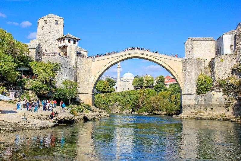The Mostar Bridge in Bosnia and Herzegovina, one of Europe's most underrated countries