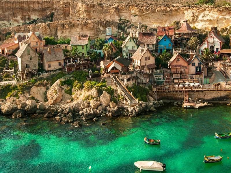 Popeye Village in Malta, one of the most underrated countries in Europe