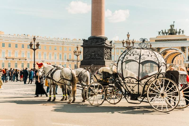 Outside the Hermitage Museum in St. Petersburg, Russia, one of the most underrated countries