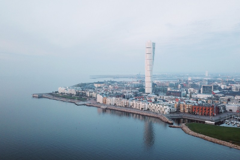 A waterfront view of Malmo in Sweden, one of the most underrated countries