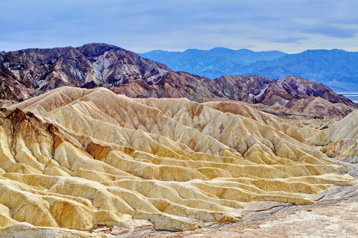 Colorful mountains in Death Valley, one of the most underrated national parks in the US