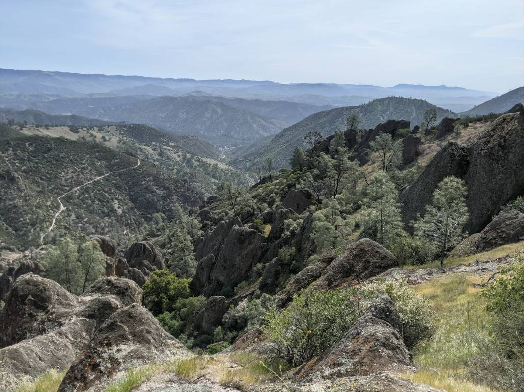 High Peaks Trail in Pinnacles National Park, one of the most underrated national parks in America